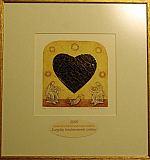 """""""Auksinė širdis"""" paveikslas"""